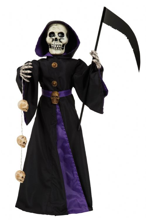 "Halloween Reaper 28"" Light Up + Sound Trick Or Treat Party Decoration"